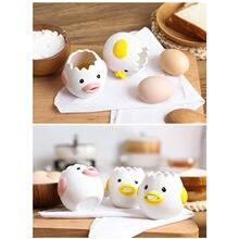 Bonito pouco frango cerâmica ovo branco separador criativo ovo separador ovo gema proteína separador filtro ferramentas de cozimento ovo