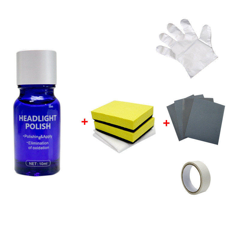 10ML Car Headlight Repair Coating Solution Repair Kit Oxidation Rearview Coating Headlight Polishing Anti-scratch Liquid