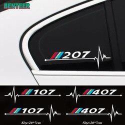 2 pçs/lote janelas do carro etiqueta para Peugeot 106 108 206 208 306 308 508 2008 3008 Acessórios Do Carro
