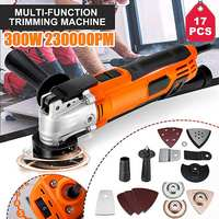220V Variable Speed Electric Multifunction Oscillating Tool Kit 300W Multi Tool Power Tool Electric Trimmer Saw Accessories Tool