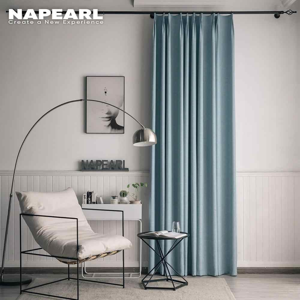 NAPEARL 1 Piece Solid Tropfen Alle Spiel Wohnkultur Vorhänge für Wohnzimmer Windows Gewinde Vorhänge Moderne Pastoralen Küche Zarte