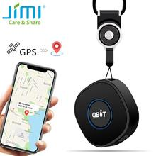 Mini GPS Locator JIMI Qbit Waterproof Kids Dog Cat Tracker With 4 Days Standby Time SOS Two Way Talking Realtime Position by APP