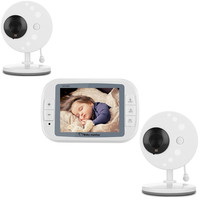 3.5inch Wireless Video Baby Monitor With Two Baby Camera Lullabies Night Vision Temperature Sensor baby camera monitor