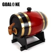 GOALONE 1.5/3L Wood Barrel Vintage Oak Beer Brewing Equipment Mini Keg Home Brew Tap Dispenser for Rum Pot Whisky Wine