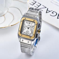 Новые роскошные брендовые механические наручные часы мужские и женские кварцевые часы с ремешком из нержавеющей стали relojes hombre automatic 158