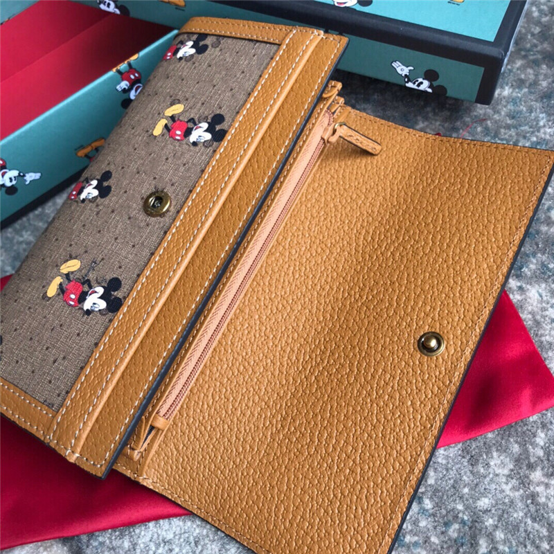 Disney Mickey Mouse new wallet Mickey Mouse clutch bag classic leather bag coin purse simple fashion small wallet