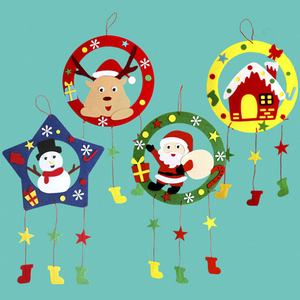 DIY Christmas Wind Chimes Kits Educational Toys Craft Kits Xmas Decoration DIY Wind Chimes For Kids Child