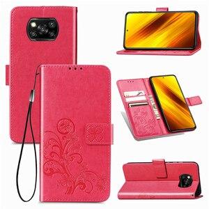 Image 3 - For Cover Xiaomi Poco X3 Pro Case Flip Magnetic Leather Phone Bag Case For Poco X3 Pro Cover For Redmi 9A 9C 9 Poco X3 Pro Case