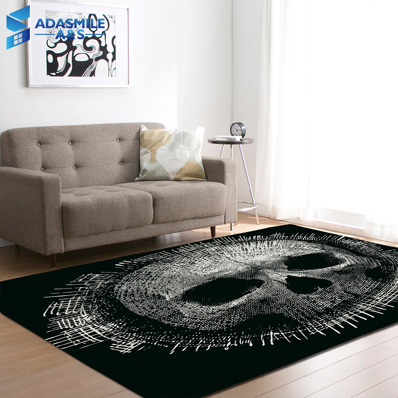 Halloween Party Decoration Rugs 3D Creative Skull Carpets Boys Room Play Mat Flannel Area Rug Carpet For Living Room Home Decor