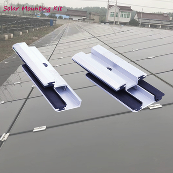 solar mounting clamp brackets system kit structure with screws for thin-film solar cells panel Hanergy solibro panel high efficiency amorphous silicon thin film solar cells