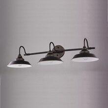 Luz de tocador de baño, 3 luces, aplique de pared, cuello de cisne, montaje en pared, lámpara de sombra, lámpara de pared, latón antiguo y acabado mate negro