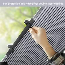 Parasol retráctil para ventana trasera, Parasol para parabrisas delantero de coche, camión, SUV, 46-65CM, cortina de protección UV