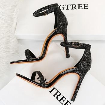 10cm High Heels Bling Glitter Stiletto Pumps 5
