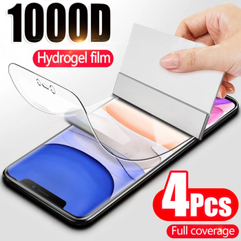 4PCS Full Coverage Hydrogel Film For iPhone 7 8 6 Plus SE 2020 Screen Protector on iPhone X XR XS MAX 11 12 Pro Screen Protector 1