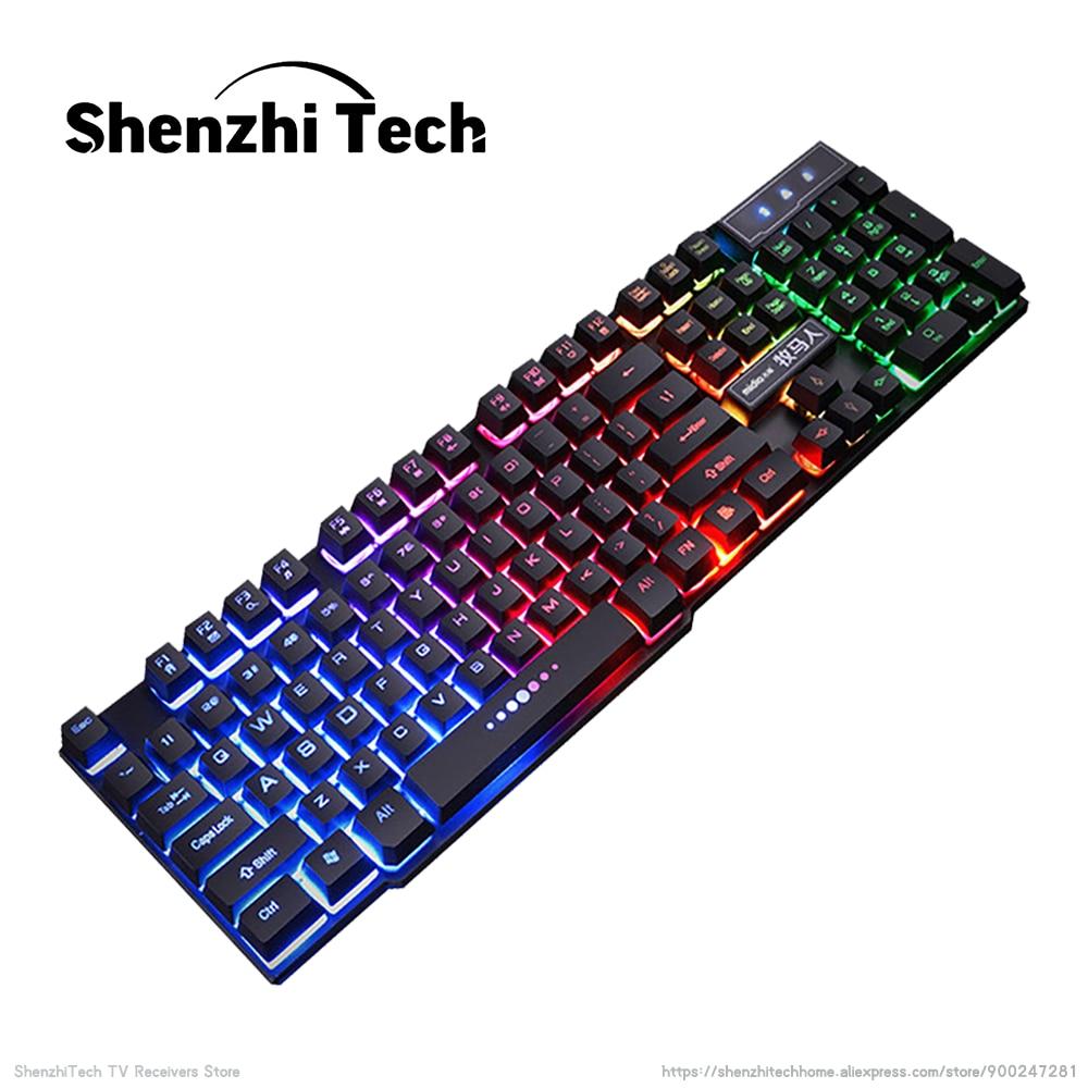 Купить проводная механическая игровая клавиатура maxkey usb горячая