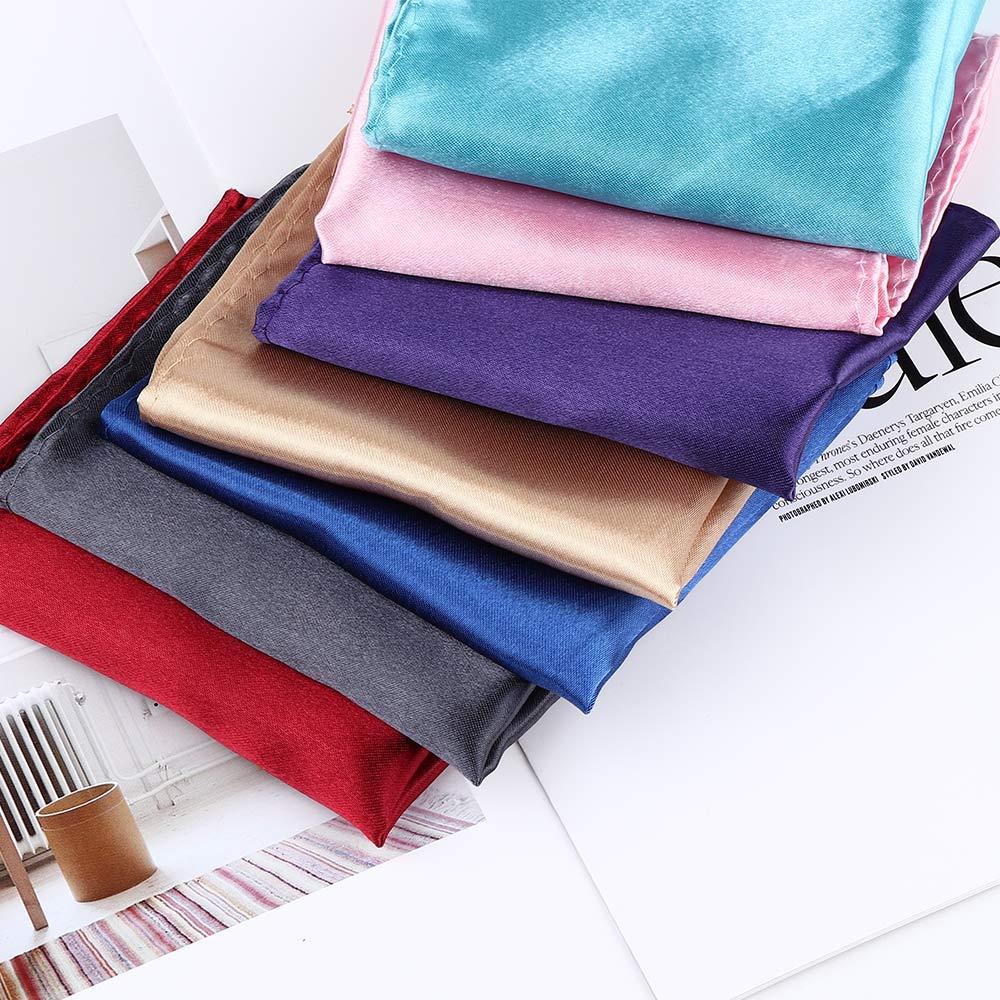 15 colors Men White Handkerchief Suit Pocket Towel Accessories Wedding Banquet Anniversary Commercial Black Red Blue