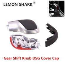 Lemon Shark DSG Cover Cap Modification Chrome Matte Gear Shift Knob Red  For VW Golf MK6 MK7 R GTI Passat B7 B8 CC R20 Jetta