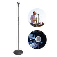 Neewer Compact Base Microphone Floor Stand with Mic Holder Adjustable Height from 39.9 to 70 inches Durable Iron-made Stand