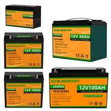 Batterie LiFePO4 12V, 20ah, 240wh/30ah, batterie Lithium-fer-Phosphate, pour moteur de Scooter et de pêche à la traîne