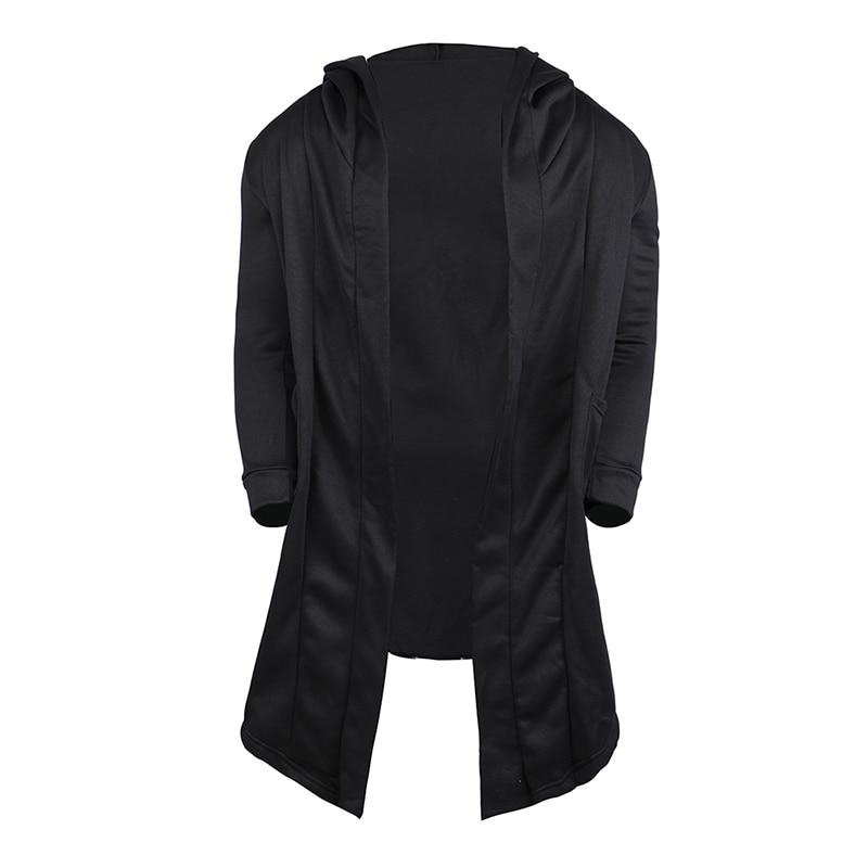 H503e27c957fe43bb822fe5c67eecb9d6T Vintage Men Autumn Winter Hoodies Jacket Long Cardigan Coat Casual Hip Hop Solid Pocket Jacket Hooded Outwear Veste Homme