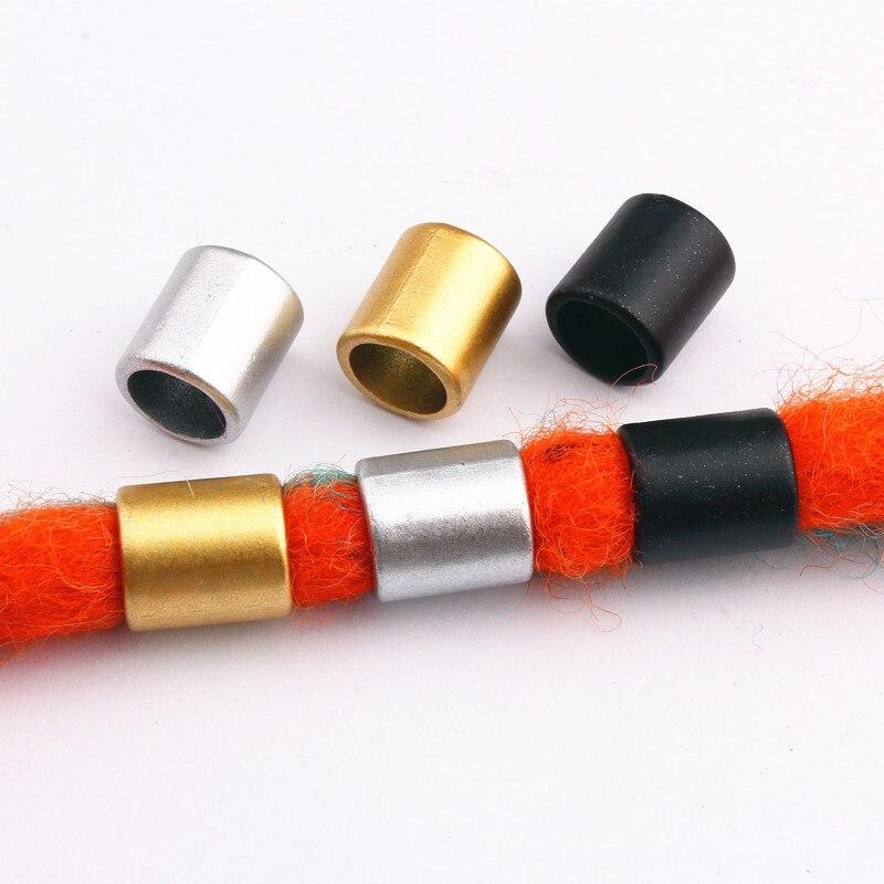 10pcs-100pcs Retro Golden/Silver/Black Hair Braid Dread Dreadlock Plastic Beads Rings Tube Braiding Hair Accessories