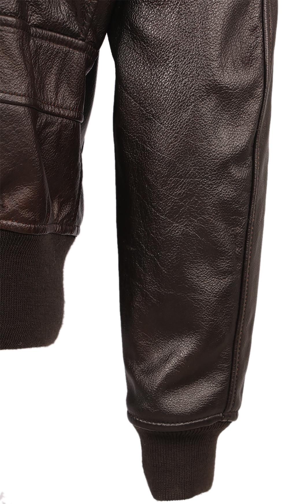 H503e3189783f417f901b17cd2fc1d411N Vintage Distressed Men Leather Jacket Quilted Fur Collar 100% Calfskin Flight Jacket Men's Leather Jacket Man Winter Coat M253
