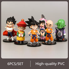 6pcs Super Dragon Ball Figura de Ação Broly Preto Deus Super Saiyajin Goku Vegeta Brolly PVC Anime Modelo Coleção Kid brinquedo(China)