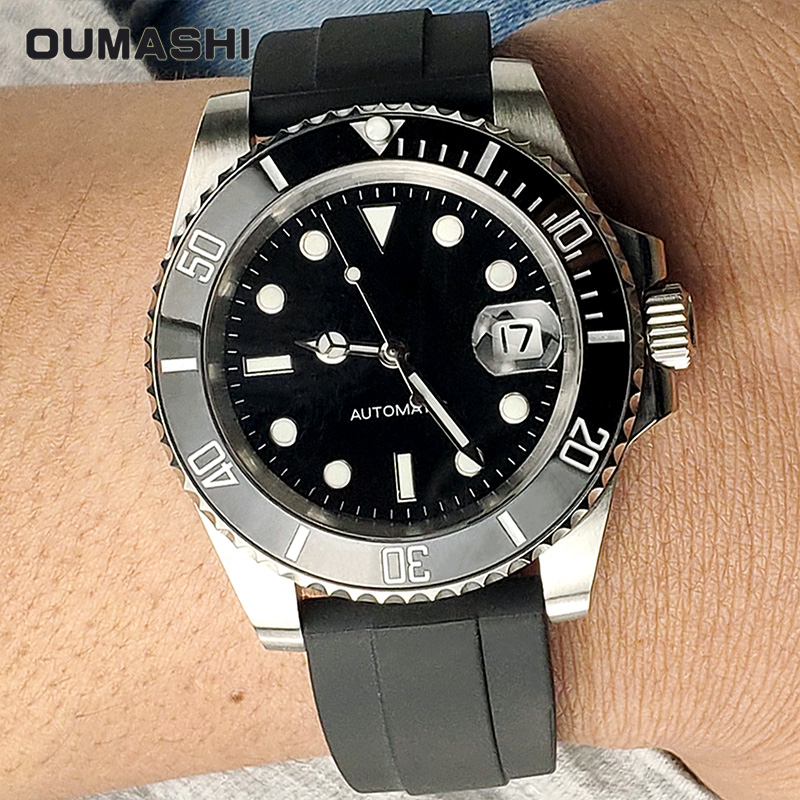 40MM Watch Men Automatic Black Stainless Steel Waterproof Diver Sport Mechanical Wristwatch 116610ln Design Luxury Brand