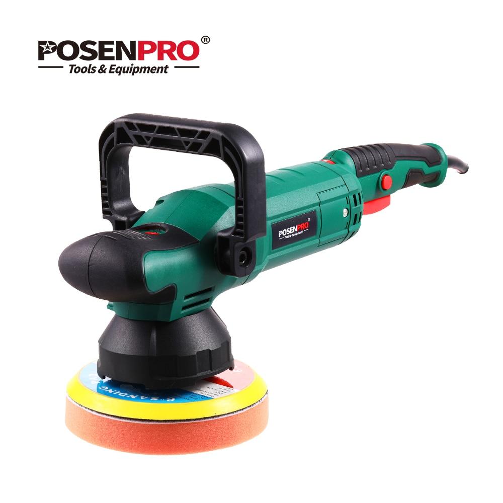 POSENPRO 150mm Dual Action Polisher 900W Variable Speed Electric Polisher Shock and Polishing Machine Cleaner Polishing Pad