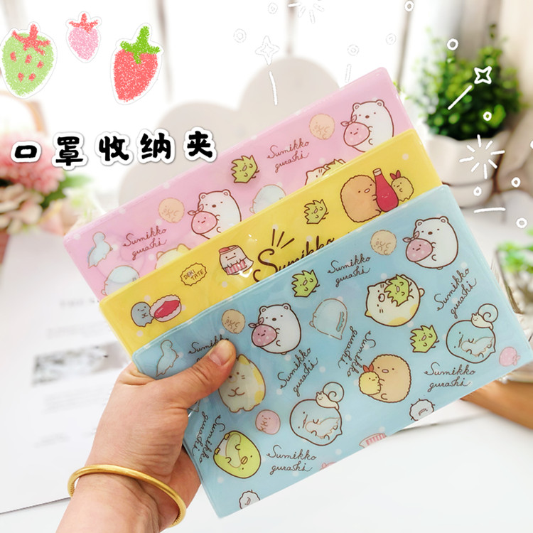 Mask Storage Folder Cartoon Melody Folded Document Pocket Storage Organizer For Office School Waterproof Mask Storage Juguetes
