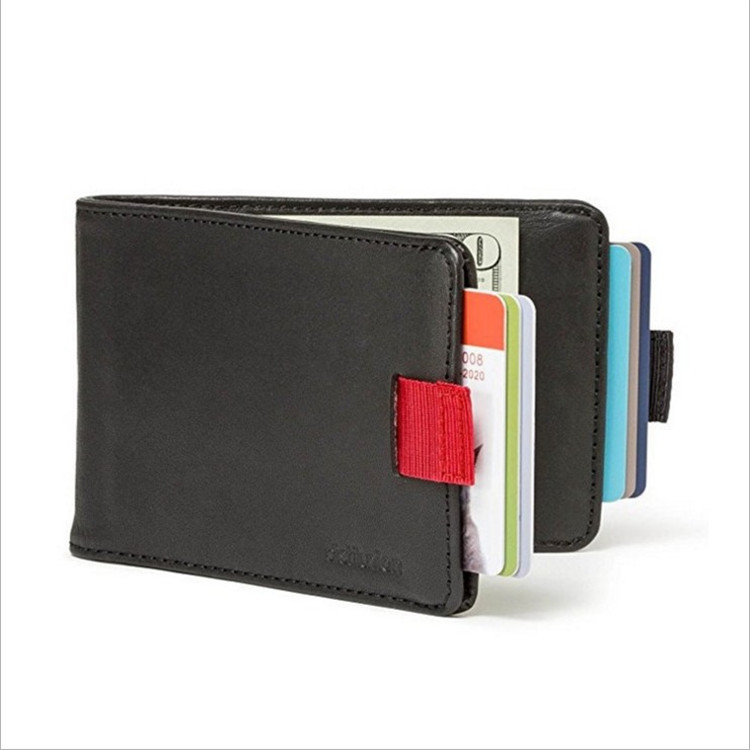 Extra Large Capacity Thin Leather Pull Wallet ID Credit Card Wallet Creative Vintage Cash Holder Organizer Case Box Card Package