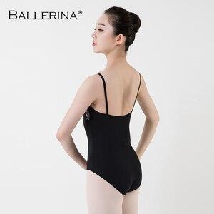 Image 2 - נשים בלט בגד גוף בפועל רשת קלע סקסי התעמלות בגד גוף שוקולד צבע ריקוד תלבושות בלרינה 5044