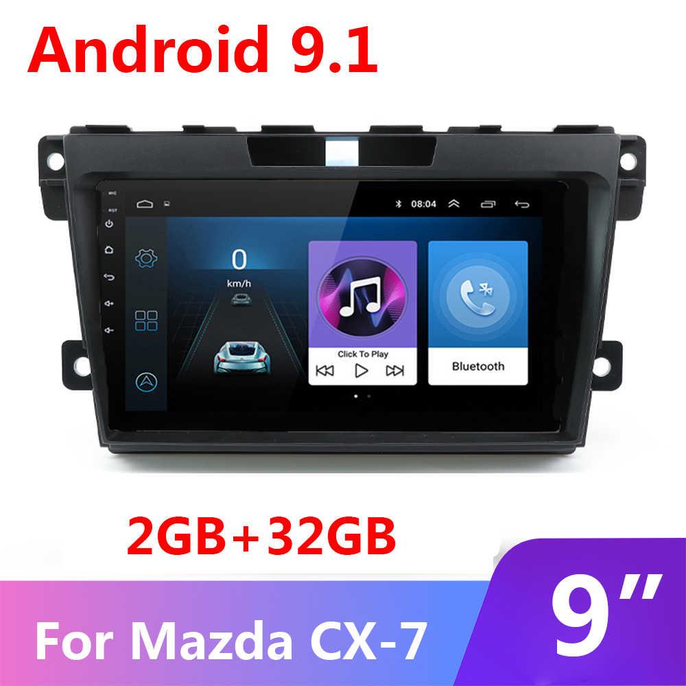 9 Inch 2G + 32G 2 Din Android 9.1 Auto Radio Multimedia Video Player Navigatie Gps Voor Mazda cx-7 Cx7 Cx 7 2008-2015 Geen Dvd Wifi