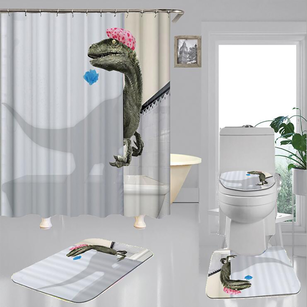 Funny Bathroom Set With Shower Curtain