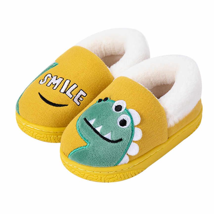 Moda pamuklu ayakkabılar Toddler erkek kız küçük çocuk ayakkabıları kış sıcak sevimli hayvan çocuk 2019 yeni kaymaz yumuşak ev katı ayakkabı 70