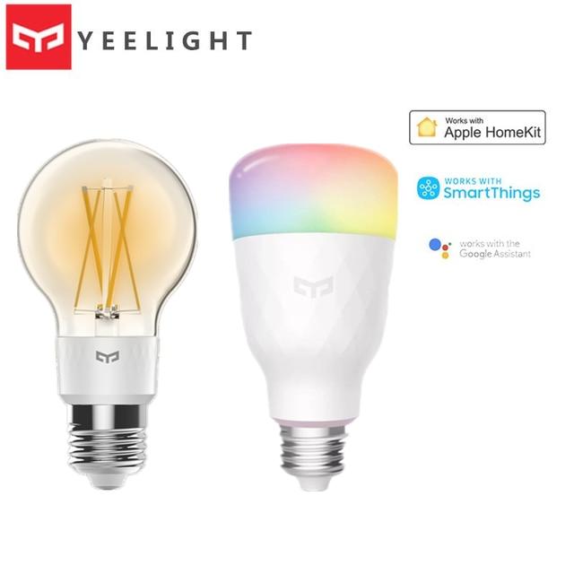 2020 Yeelight חכם LED הנורה 800lm RGB E27 אלחוטי קול שליטה חכם WiFi App Apple Homekit שלט רחוק צבעוני נורות