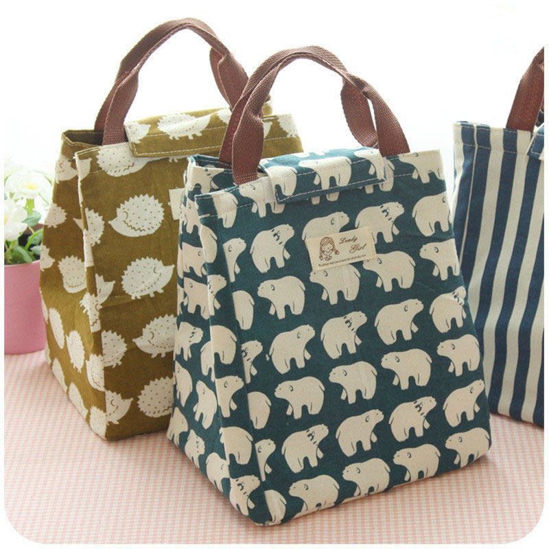 Female Lunch Food Box Bag Fashion Insulated Thermal Food Picnic Lunch Bags For Women Kids Men Cooler Tote Bag Case