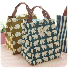 Female Lunch Food Box font b Bag b font Fashion Insulated Thermal Food Picnic Lunch font