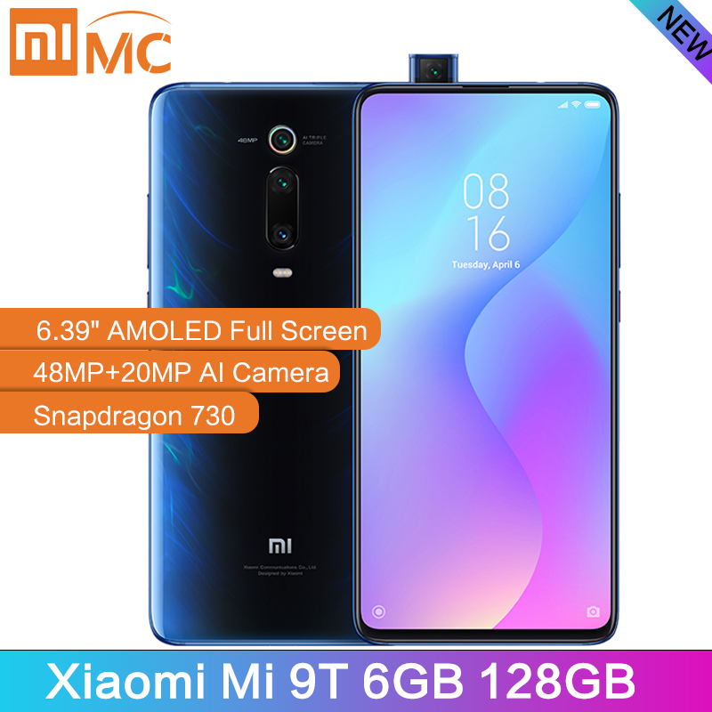 "New Global Version Xiaomi Mi 9T 6GB 128GB Mobile Phone Snapdragon 730 AI 48MP Rear Camera 4000mAh  6.39"" AMOLED Display MIUI 10"