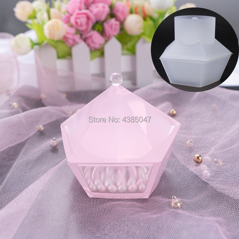 Pentagon Shaped Cut Jewelry Gift Box Storage Box Mold UV Resin Jewelry Molds Jewelry Tools Jewelry Accessories