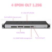 OLT SFP PON ONU EPON 4 PON port mini ftth fiber optic 4 pon port 4 SFP slots epon OLT 10/100/1000Mauto negotiable