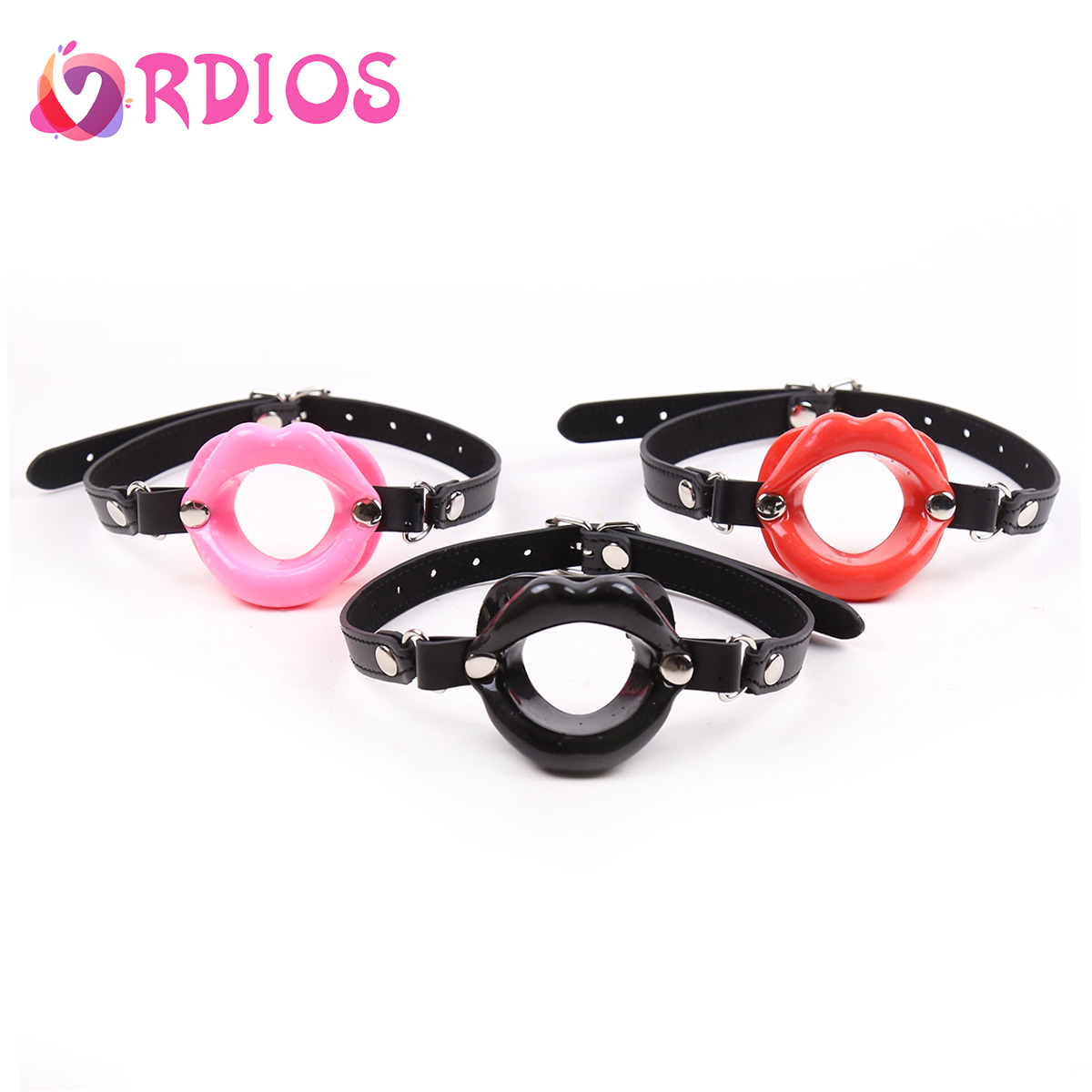 VRDIOS Open Mouth Gag Ball O-shaped Silicone Mouth Plug Sex Bondage Adult Mouth Ball Gag Sexy Lingerie Hot Erotic Games Sex Toys