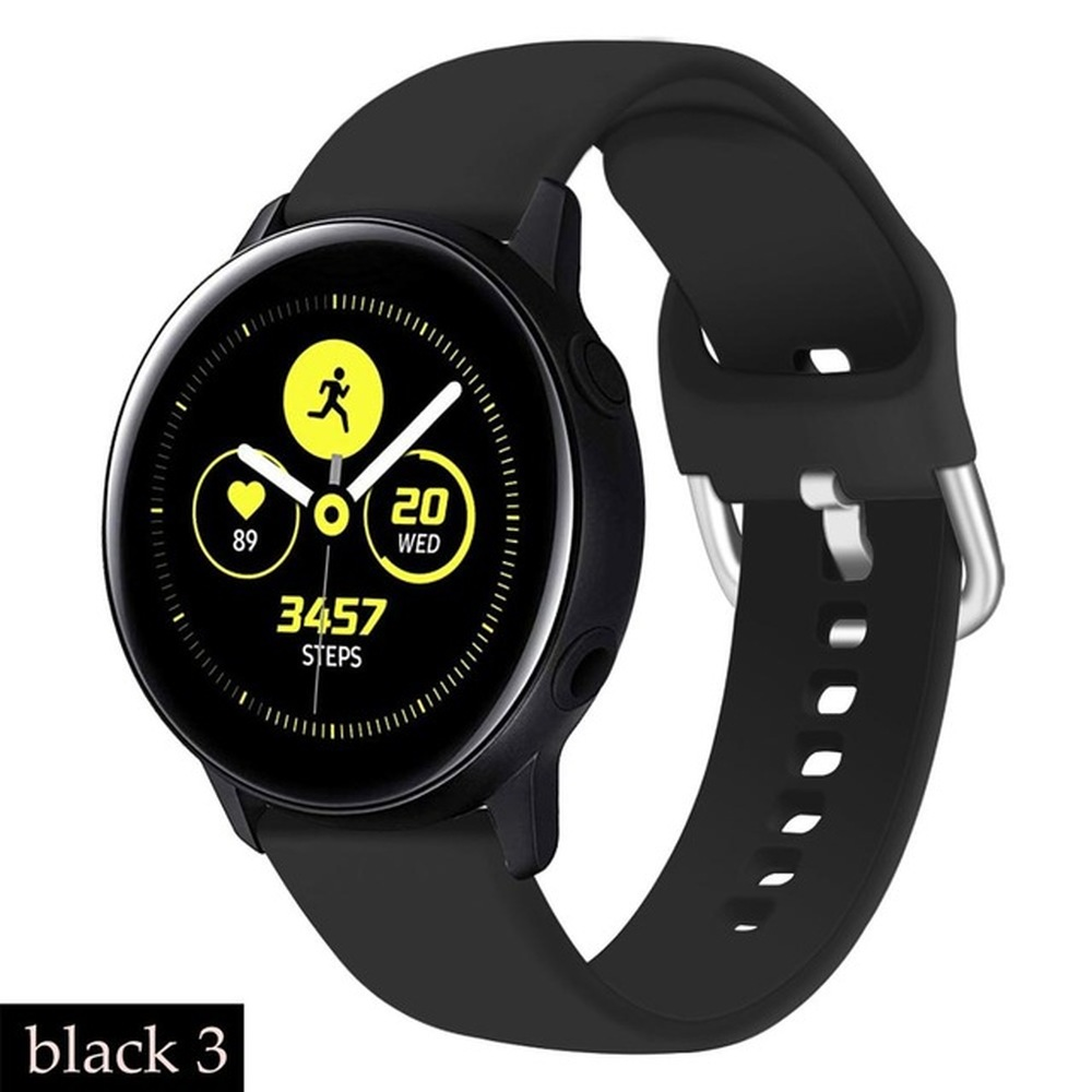 Watchband Soft Silicone Watchband for Samsung Galaxy Watch Active 2 40mm 44mm Sport Waterproof Women Men Bracelet Band Strap