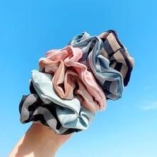Винтажная Женская резинка для волос эластичная «конский хвост»