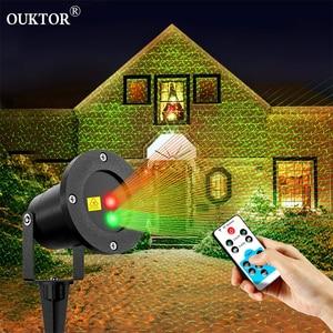Image 1 - Hareketli Noel Lazer Projektör Işıkları Açık Su Geçirmez Peri Gökyüzü Yıldız Sahne Spot Duş Bahçe çim ışığı DJ RGB Işık