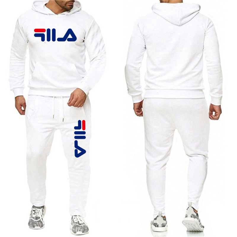 Autumn And Winter  Menhooded Suits Printed Sportswear Sports Hooded Trousers Sportswear With Pocket Sportswear Suit