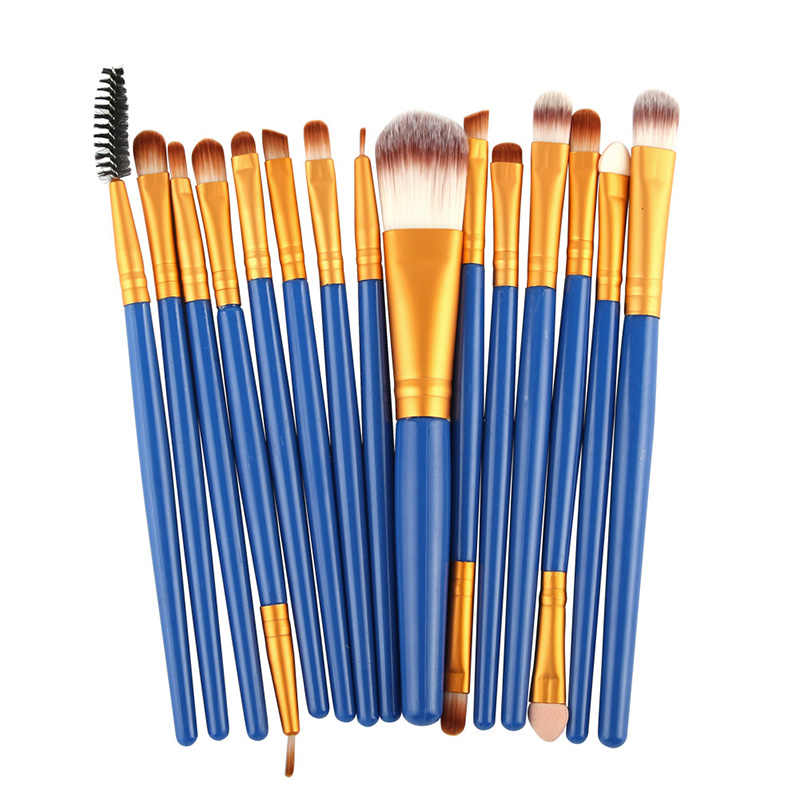 15Pcs Makeup Kosmetik Beautytools Bulu Mata Bibir Foundation Bubuk Eye Shadow Alis Eyeliner Make Up Kosmetik Alat Kecantikan PH2