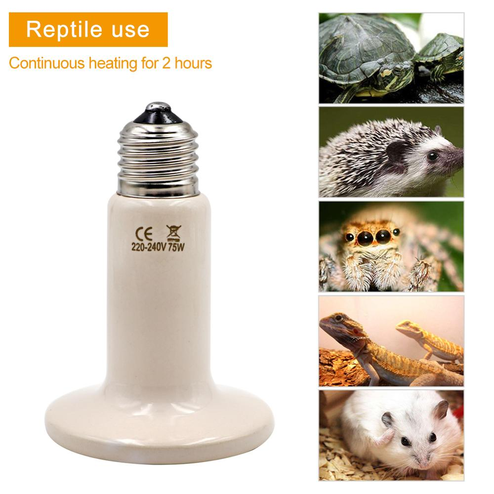 Pet Reptile Heat lamps E27 Pet Heating Light Bulb Rabbit Reptile Small Pet Mini Infrared Ceramic Heating Lamp Warm Light Bulb