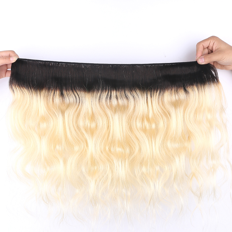 613 Blonde Human Hair Bundles 3/4PCS Ombre Brazilian Body Wave Human Hair Weave Bundles 8-26 Inch 100% Remy Hair Extension SOKU