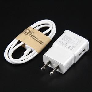 Image 4 - 100 комплектов 5В 1а ЕС США вилка настенное зарядное устройство с USB кабель для передачи данных синхронизации микро мобильный телефон кабель для Samsung Galaxy S7 Edge S6 S5 телефон